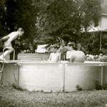 backyard, summe, 1961