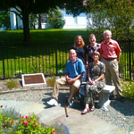 Memorial Garden Plaques in Christ Church - 10 gate, Summer, '13. Twins cousin Nancy, wife, Kathy, Bill, Garret & Cousin Annie.